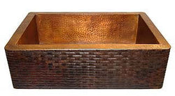 "Copper Farmhouse Kitchen Sink Brick Design( 22"" to 36"" Various Colors, #CFS-BRICK)"