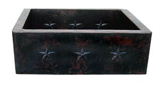 "Copper Farmhouse Kitchen Sink Star Design( 22"" to 36"" Various Colors, #CFS-STAR)"