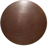 Round Copper Table Top, Brown