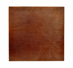 30 Inch Square Copper Table Top Hand Hammered (Various Colors)