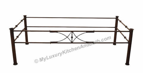 bamboo design - wrought iron table base handmade for coffee tables