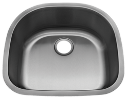 Stainless Steel Undermount Kitchen Sink Single Bowl D Shape 18 gauge or 16 gauge