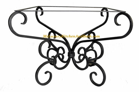 CLASSIC Design - Wrought Iron Table Base Handmade for Coffee Tables, Dining Table, etc (Various Sizes, #TBAS_CLASSIC)