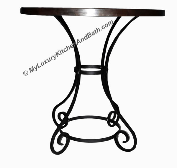 HOURGLASS Design - Wrought Iron Table Base Handmade for Coffee Tables, Dining Table, etc (Various Sizes, #TBAS_CLASSIC)