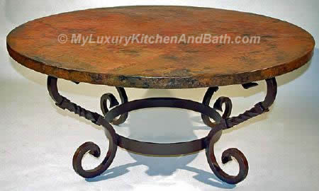TULIP Design Wrought Iron Table Base Handmade for Coffee Tables
