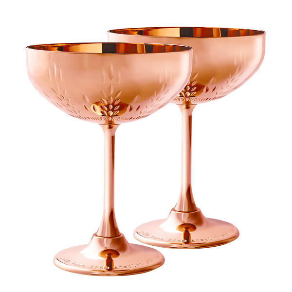 Copper Cocktail Coupe Gift Set