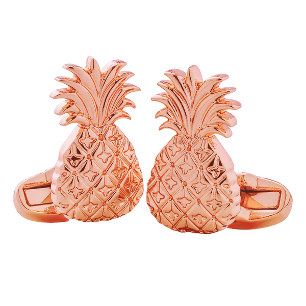 Copper Pineapple Cufflinks - Elyx Boutique