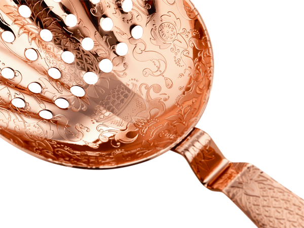 Copper Julep Strainer detail