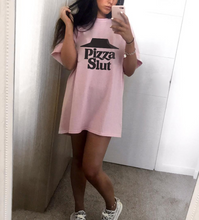 Pizza Slut Tee - pink