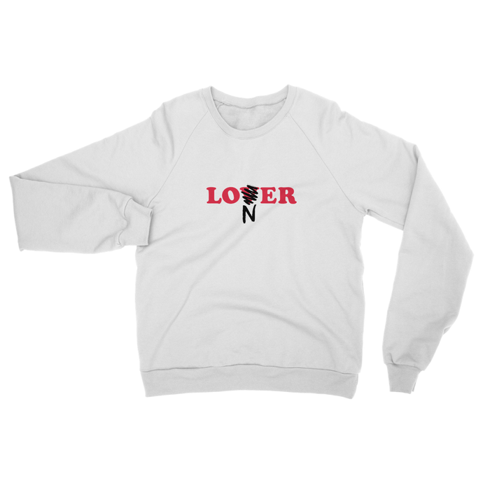 Loner / Lover Sweat - white