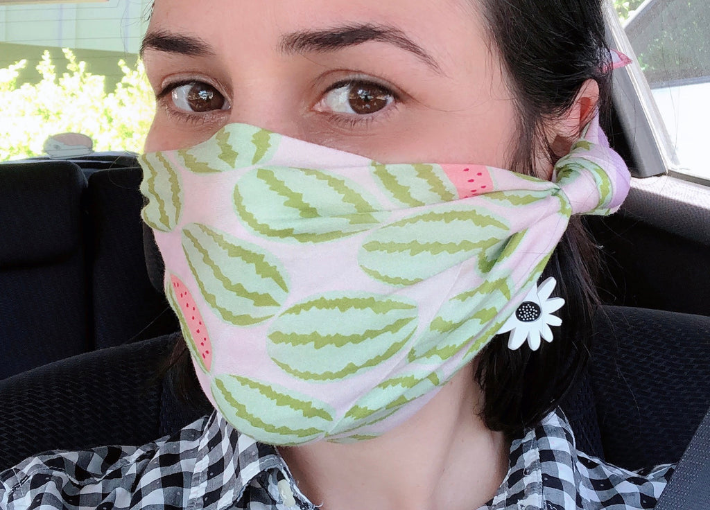 watermelon bandana face mask