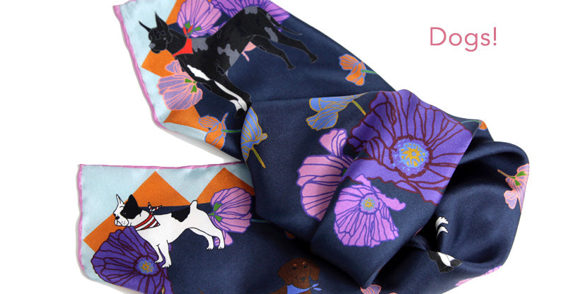 Centinelle Dogs Scarf! great dane , french bulldog, dachshund.