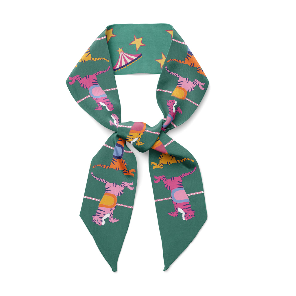 NEON TIGERS CAROUSEL - Twilly Skinny Scarf