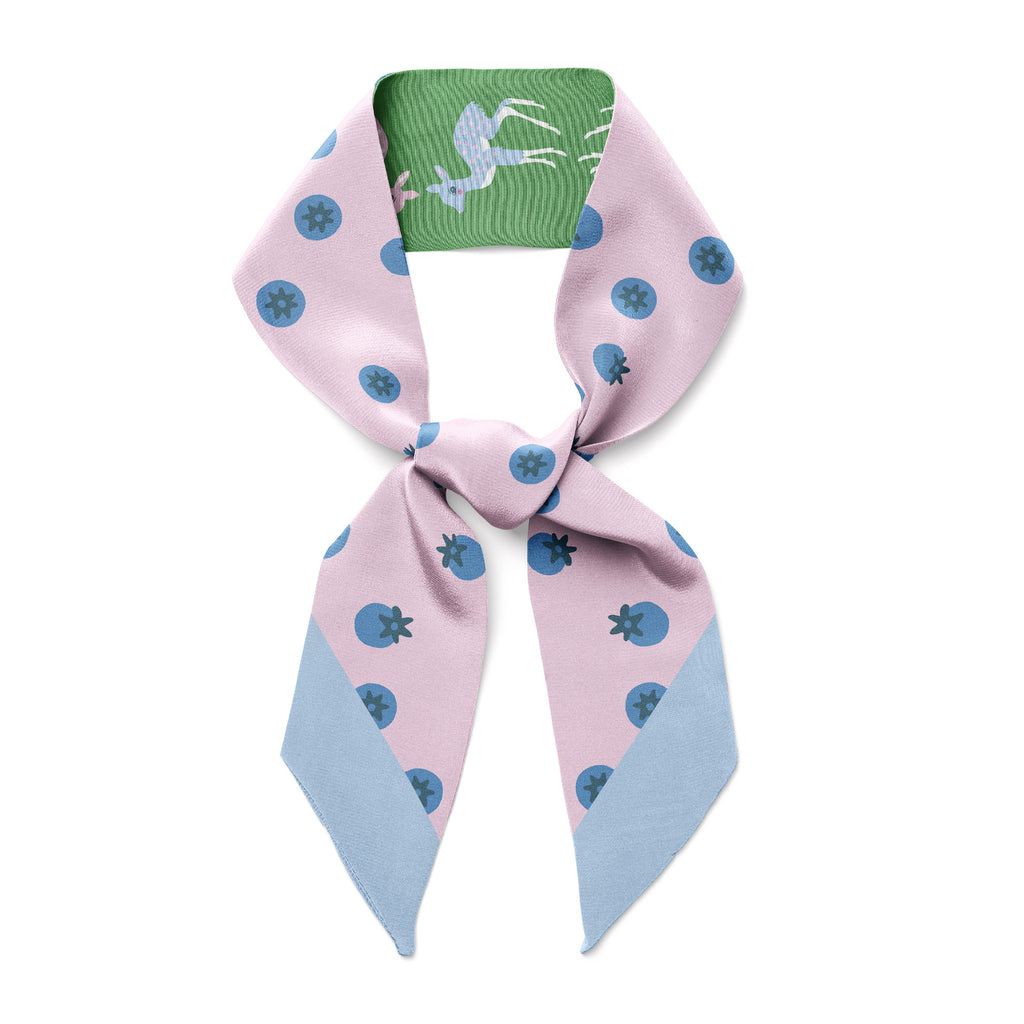 DEER & BLUEBERRIES  - Twilly Skinny Scarf