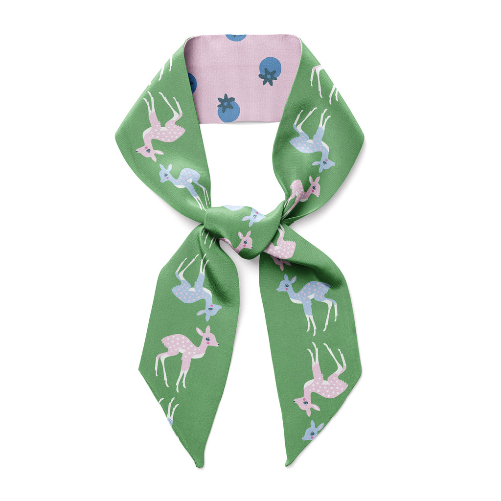 NORTHERN CALIFORNIA DEER & BLUEBERRIES  - Twilly Skinny Scarf