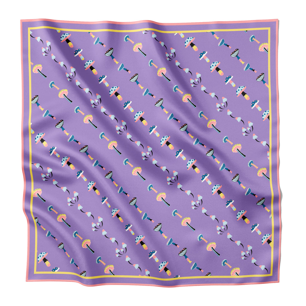 DIPSEA TRAIL MUSHROOMS  - Silk Large Square Scarf