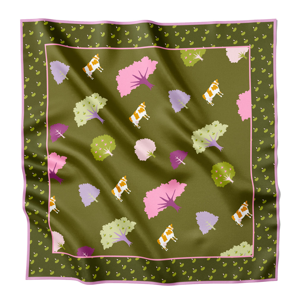 NICASIO VALLEY - Silk Large Square Scarf