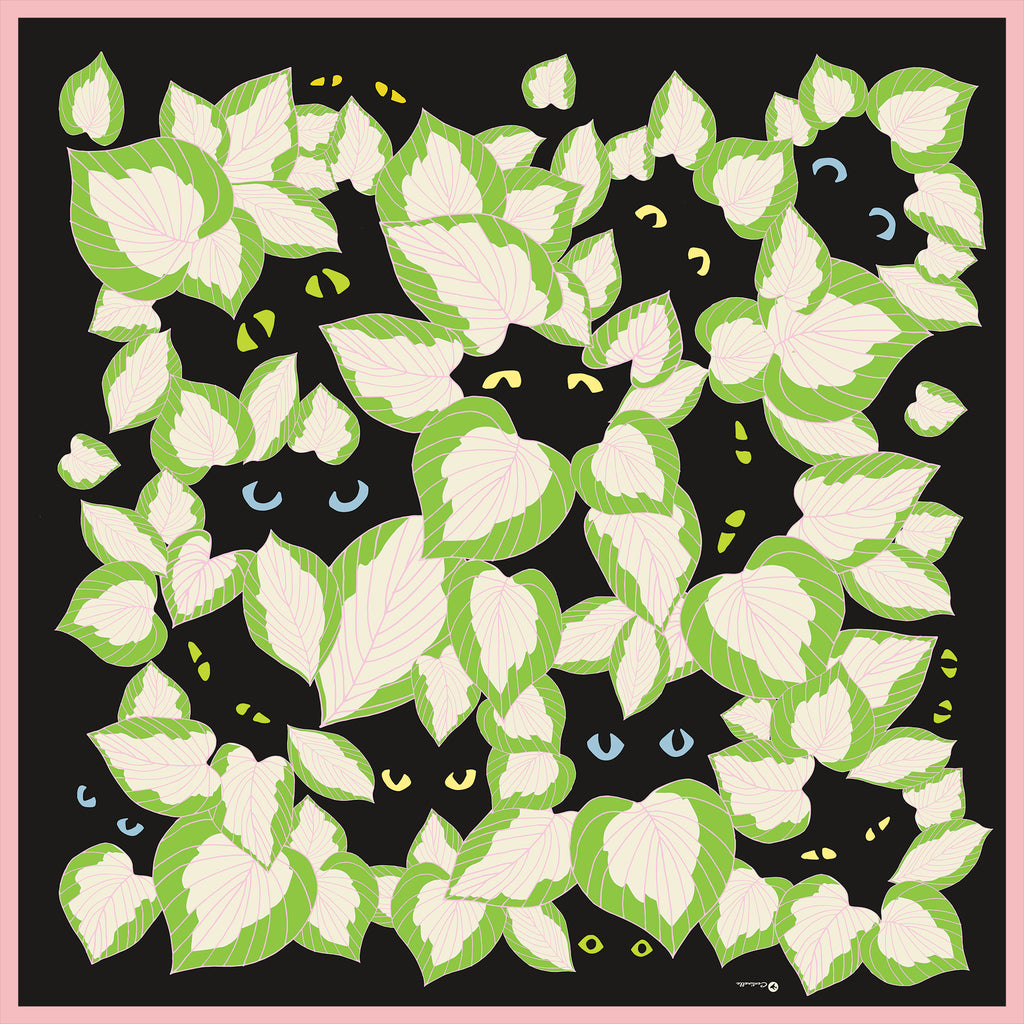 PLANTS AND CATS  - Cotton Silk Bandana