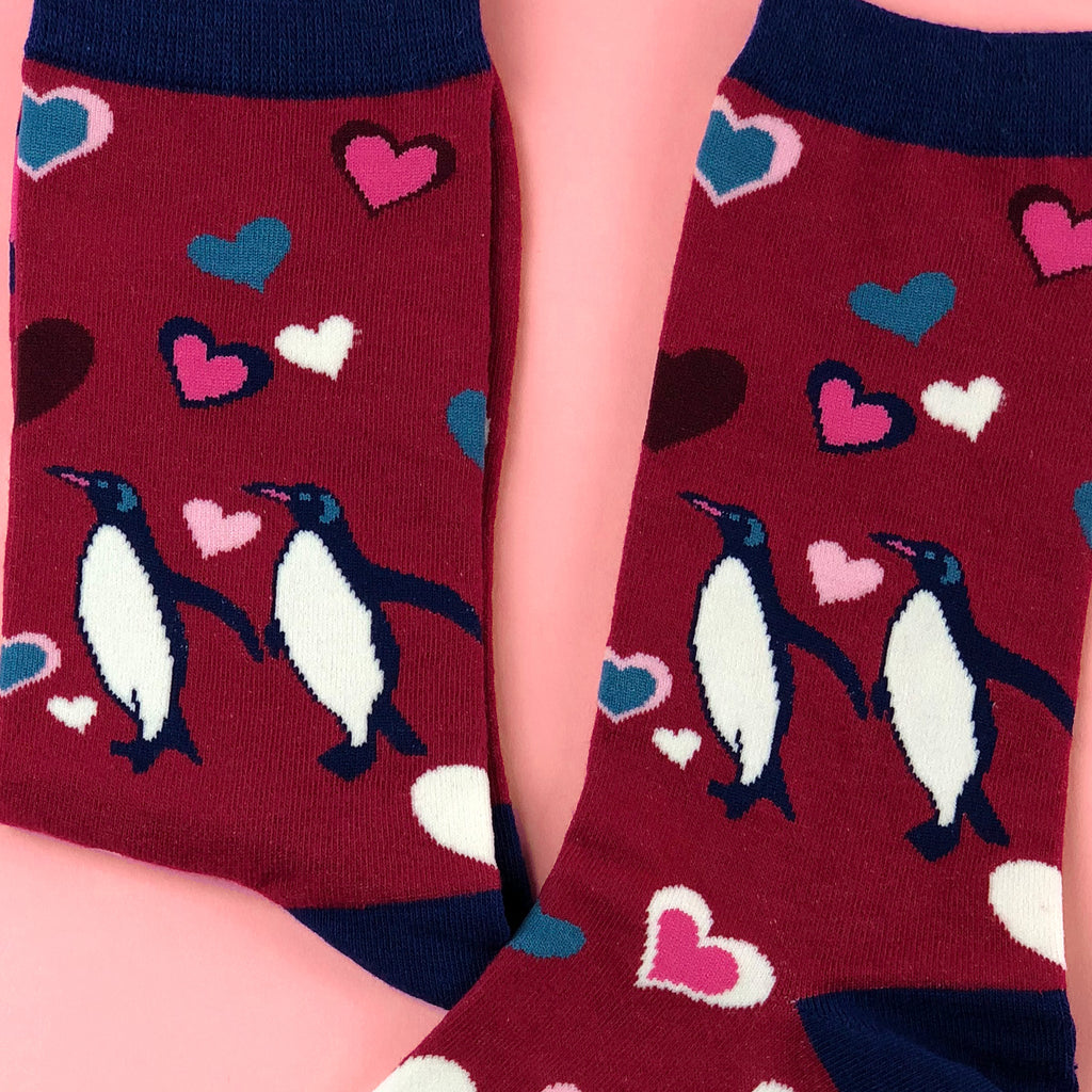TRUE-BLUE PENGUIN - Combed Cotton Socks