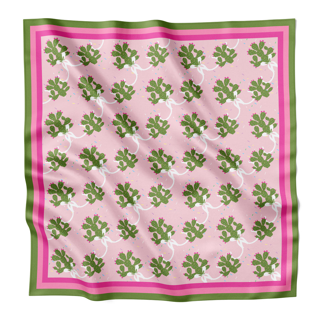 SPRINKLY CACTUS  - Silk Large Square Scarf