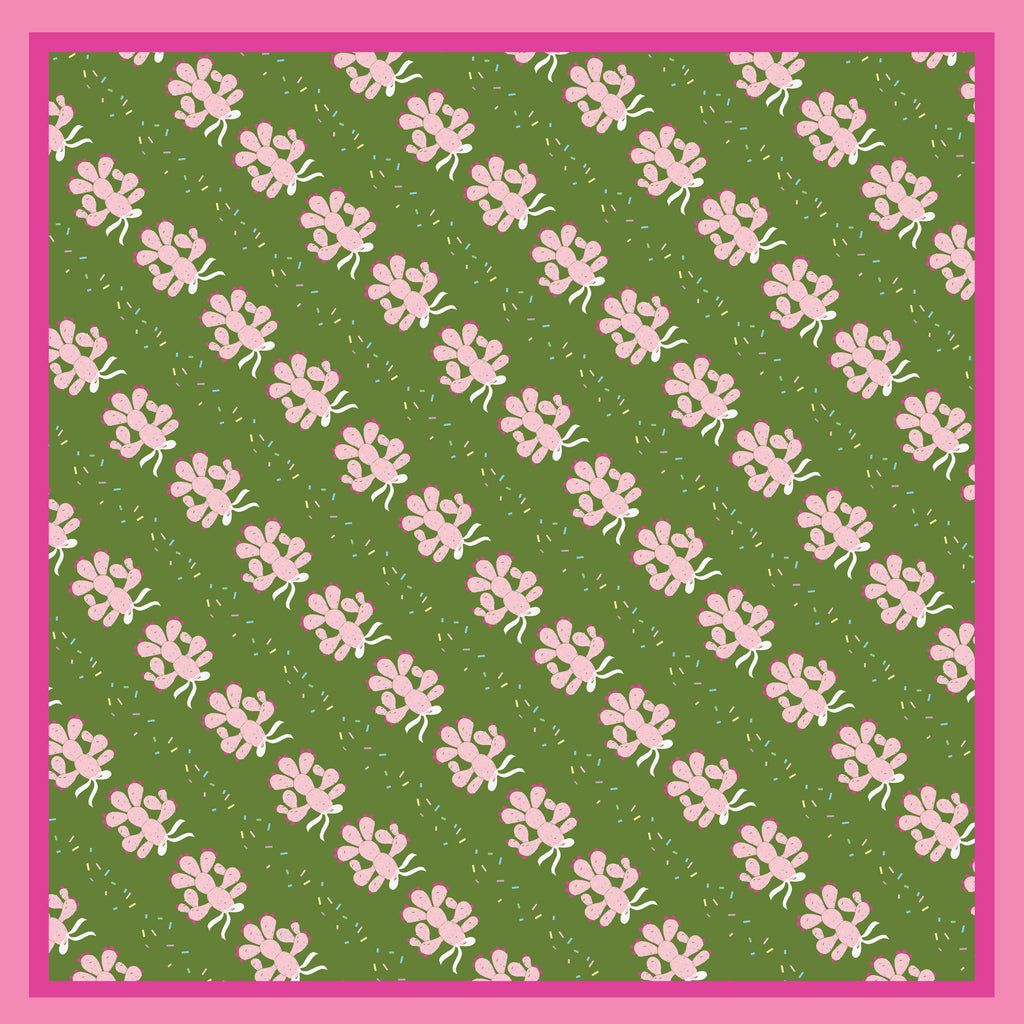 SPRINKLY CACTUS  - Silk Medium Square Scarf