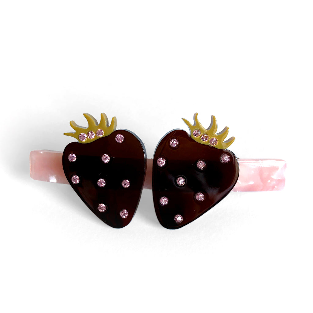 Strawberries  - Hair Barrette
