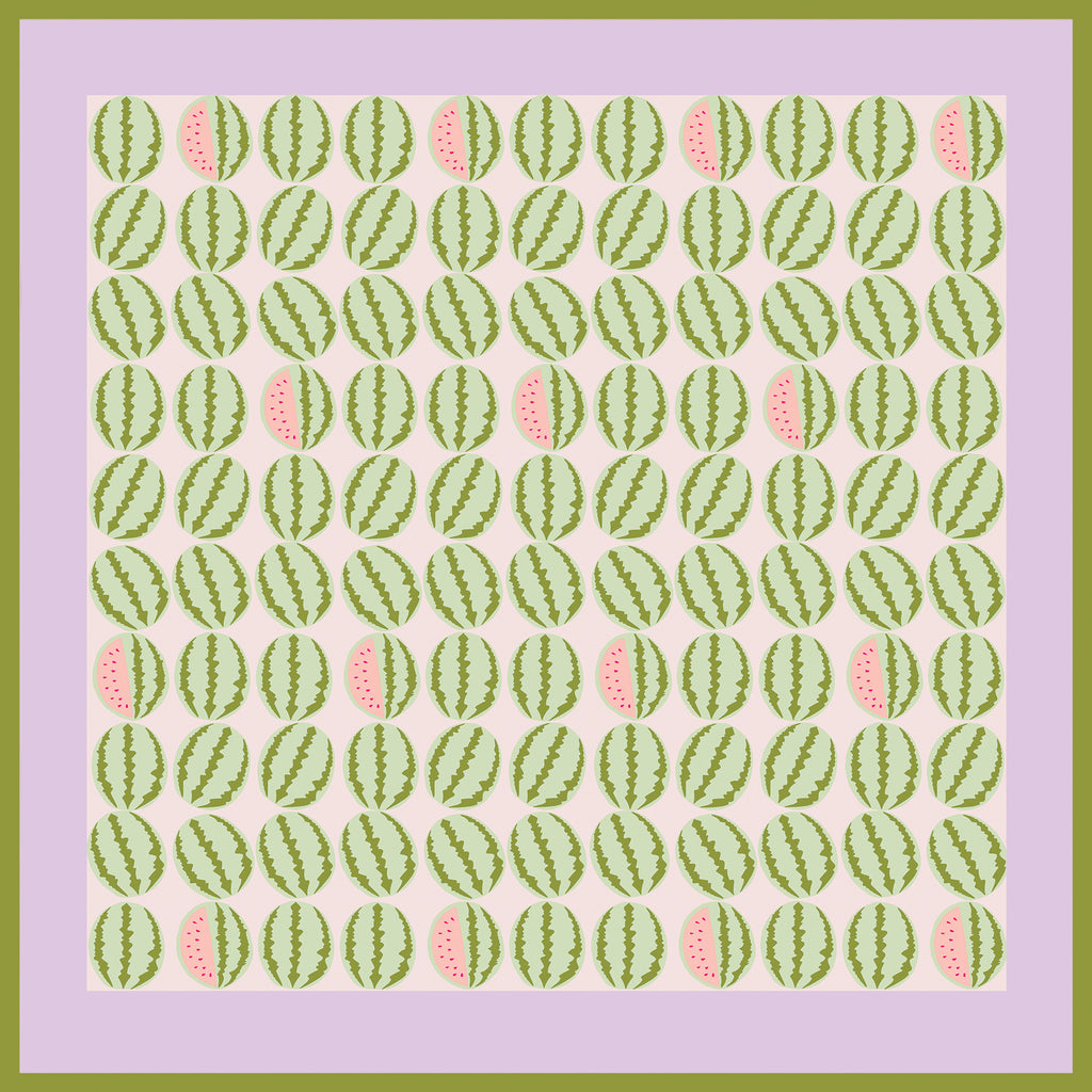 WATERMELON LILAC  - Silk Medium Square Scarf