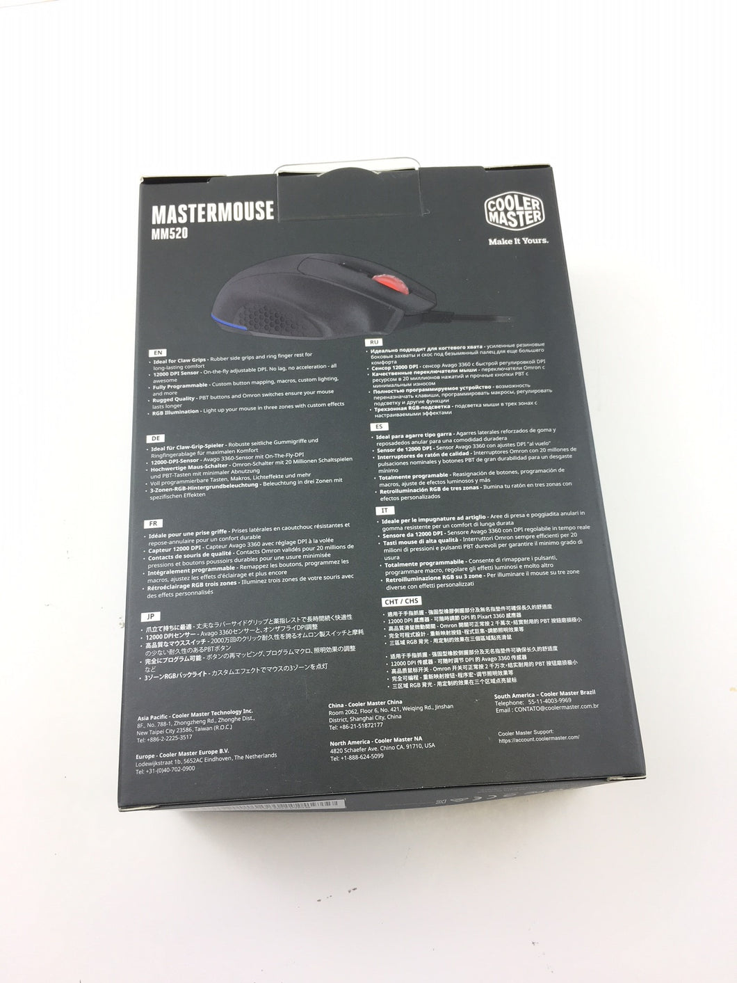 f63f90bd17f ... Lot of 900 - Cooler Master MasterMouse MM520 Gaming Mouse, 7 Buttons, RGB  LED ...