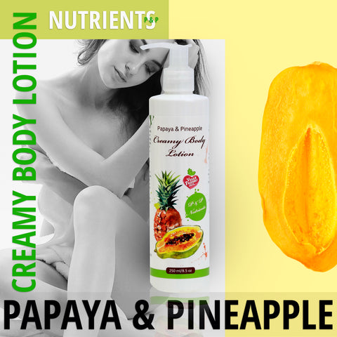Papaya & Pineapple - Vegane Cremige Körperlotion - deadseashop.de