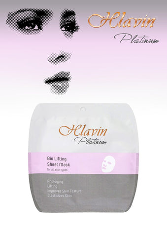 Hlavin PLATINUM Bio Lifting Anti-Aging Tightening Sheet Mask with Dead Sea Minerals  DeadSeaShop.de