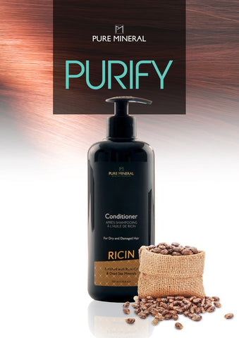 CONDITIONER MIT RIZINUSÖL Pure Mineral DeadSeaShop-de
