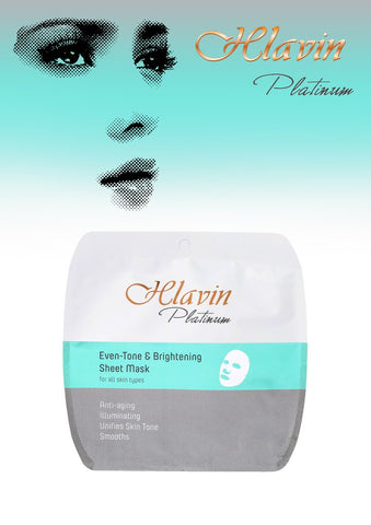 Hlavin PLATINUM Tone & Brightening Whitening Anti-Aging Sheet Mask with Dead Sea Minerals DeadSeaShop.de