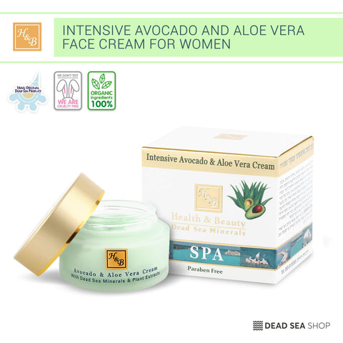 Health & Beauty - Avocado & Aloe Vera Cream - DeadSeaShop.de