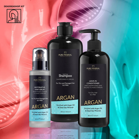 "Argan Shampoo & Conditioner + <strong><span style=""color: #ff2a00;""><big>1 FREI</big></strong> Haar Serum"