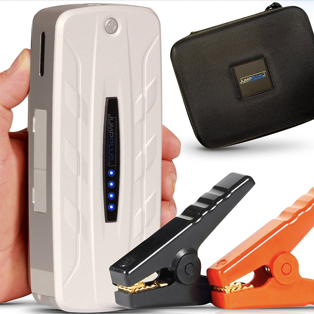 JUMPPLUS Portable V8 Car Jump Starter (white)