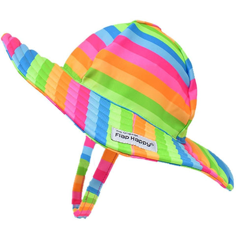 Flap Happy Rainbow UPF 50+ Summer Splash Swim Hat