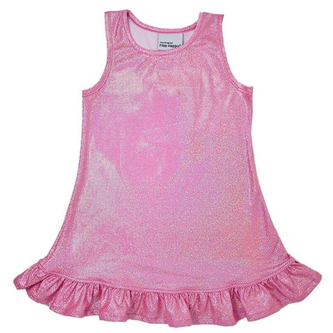 Flap Happy Pink Sparkle UPF 50+Jillian A-Line Dress