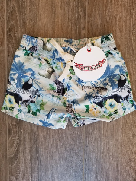 Little Wings by Paper Wings Hawaiian Print Classic Board Shorts