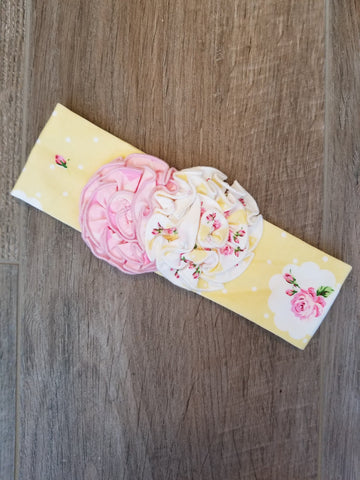 Swoon Baby Butter Cup Rosette Matching Headband