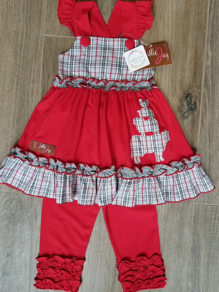 Millie Jay Farm Animals Applique Dress and Leggings