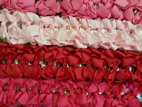 "4x3"" Pigtail Grosgrain Ribbon Alligator Clip Hair Bows"