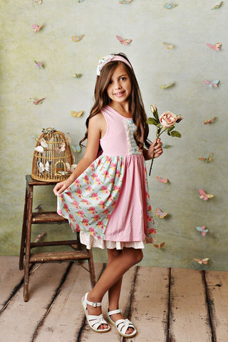 Serendipity French Rose Dress with Shorties Style 21-13