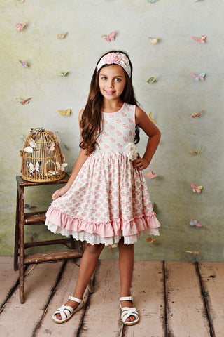 Serendipity Pink Rose Dress with Shorties Style 21-30