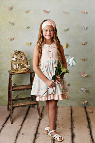 Serendipity Blush Petal Dress with Shorties Style 21-43