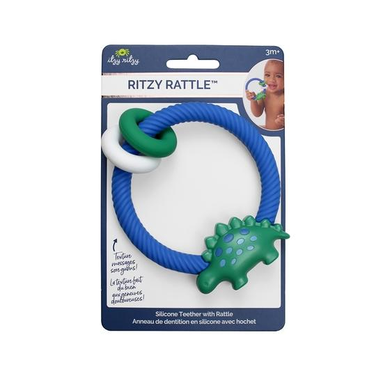 Itzy Ritzy Dino Rattle with Teething Rings