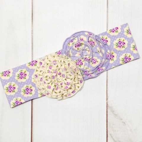 2PC Sets - Swoon Baby Lavender Meadow Headband