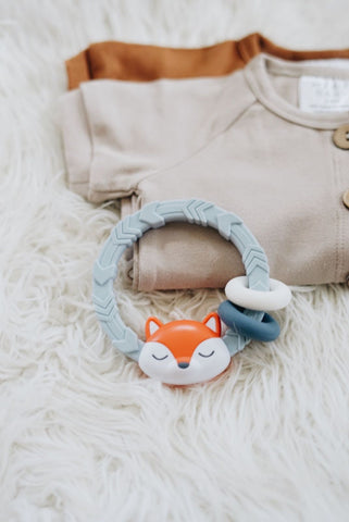 Itzy Ritzy Fox Rattle with Teething Rings
