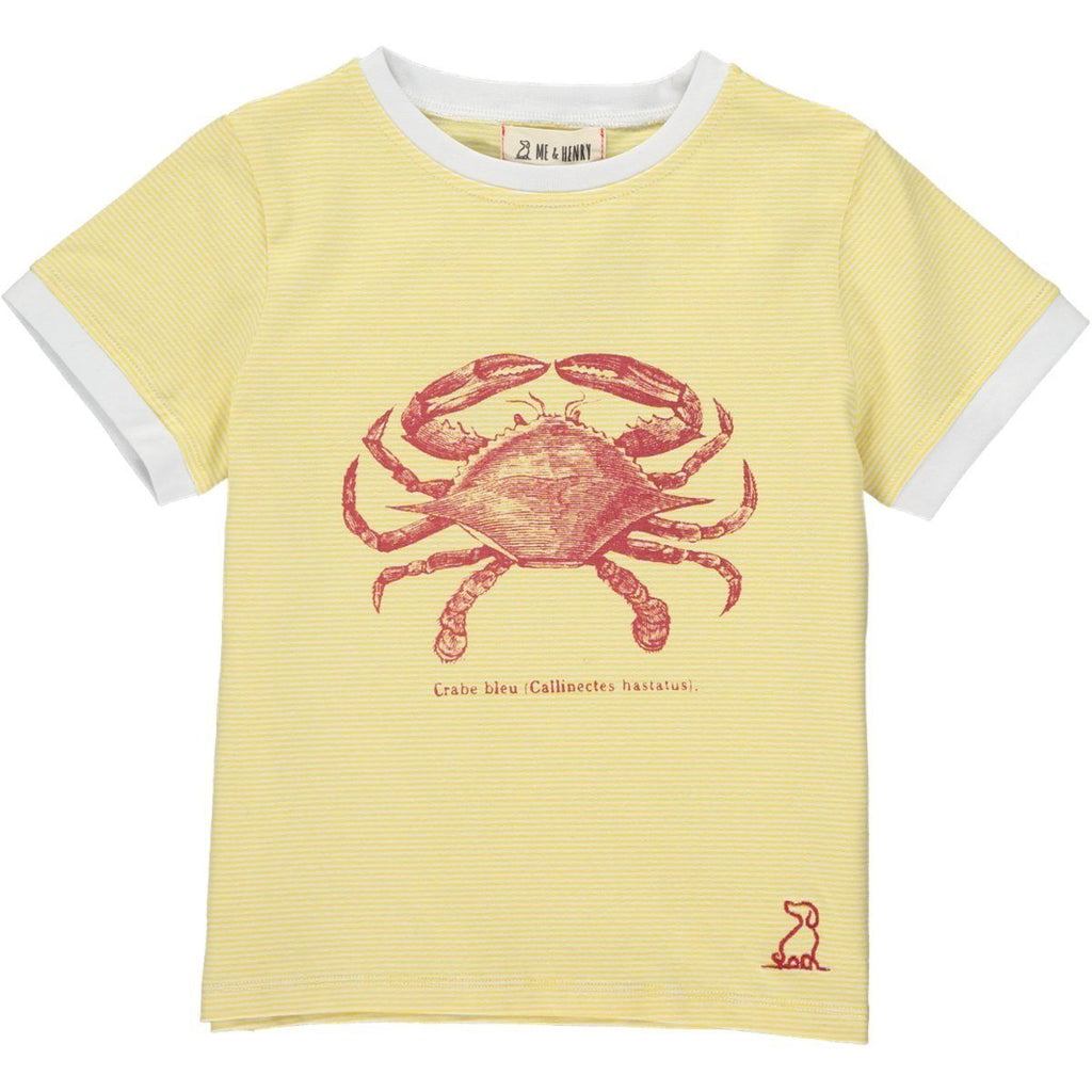 Me & Henry Boys Yellow Crab Tee