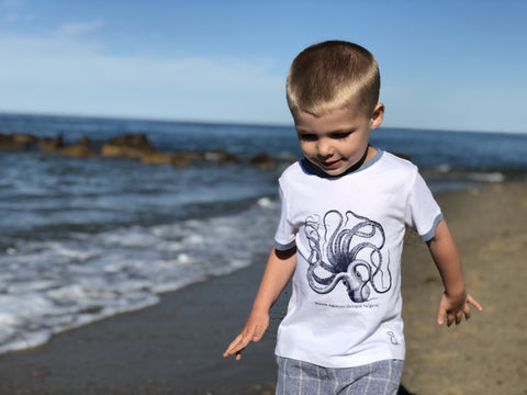 Me & Henry Boys White Octopus Tee