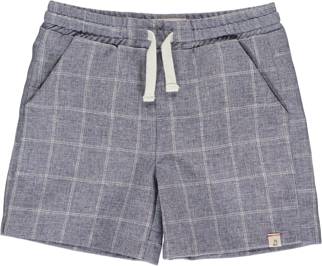 Me & Henry Boys Navy Grid Swim Shorts